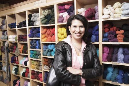 Female customer in yarn shop Stock Photo - 16070566