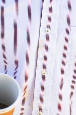 Button down shirt and paper cup Stock Photo - 16070577