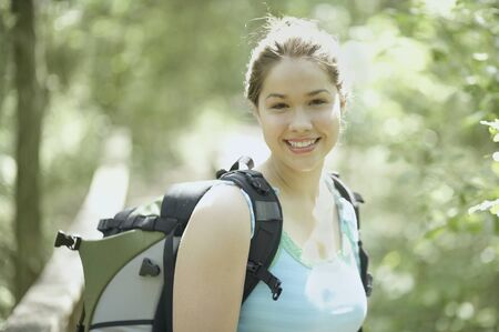 Portrait of a young female hiker Stock Photo