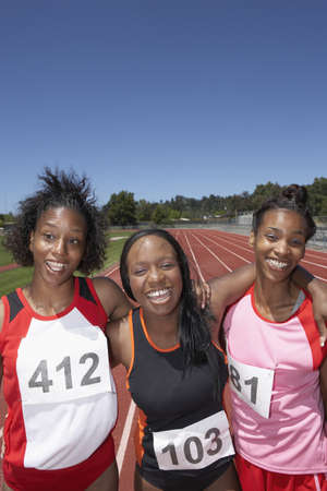 Portrait of female track athletes Stock Photo - 16070761