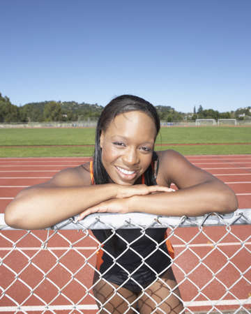 Portrait of female track athlete Stock Photo - 16070771