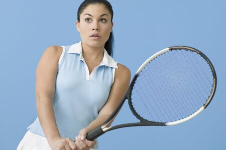 contentedness: Teen girl ready to play tennis
