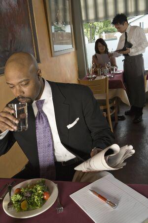 eating: People eating in restaurant