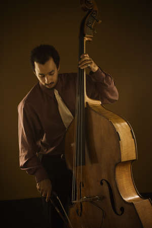 Man playing double bass Stock Photo - 16071005