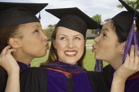 silliness: Three female graduates