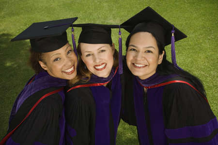 Three female graduates Stock Photo - 16071021