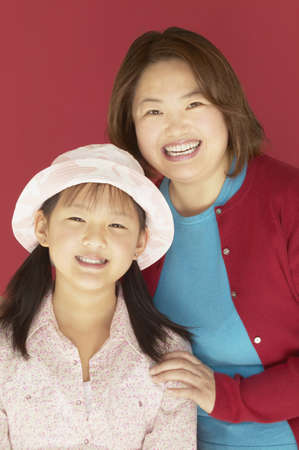Portrait of a mother and her daughter Stock Photo - 16071171