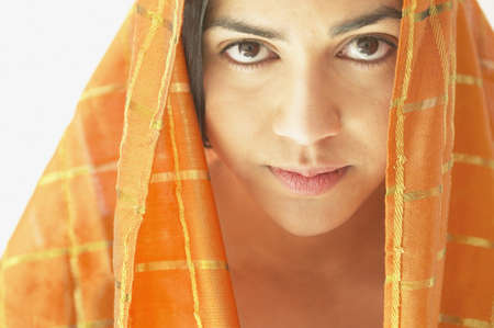 above 18: Young woman wearing a head scarf