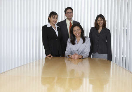 Portrait of four business professionals Stock Photo - 16071360