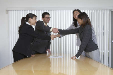 Business professionals shake hands on a deal Stock Photo - 16071361