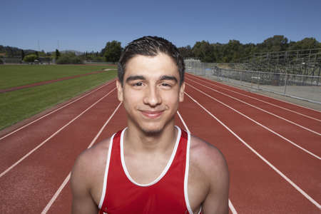 Portrait of male track participant Stock Photo - 16071381
