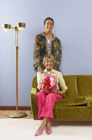 Portrait of mother with grown son Stock Photo - 16071392