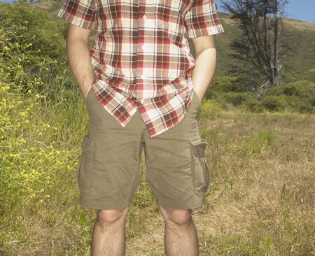 Man standing in rural setting Stock Photo - 16071447