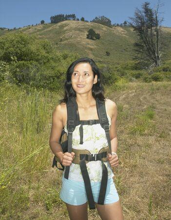 Female hiker in rural setting Stock Photo - 16071448