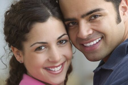 Portrait of a smiling young couple Stock Photo - 16071466