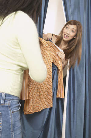 some under 18: Two young women in a changing room