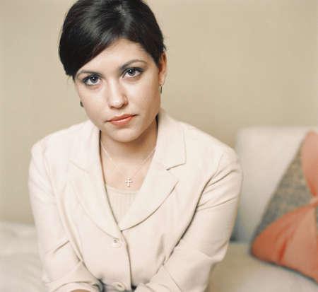 above 21: Portrait of serious businesswoman