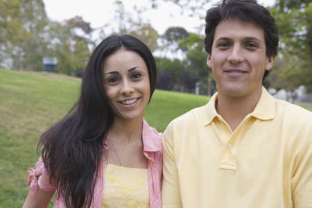 Portrait of couple in a park Stock Photo - 16071734
