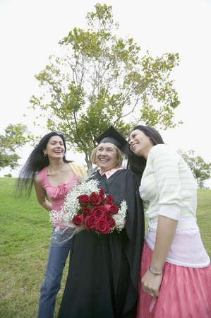 Graduate mother receiving praise Stock Photo - 16071736