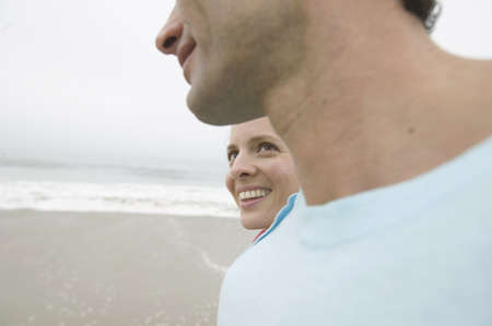 Closeup of couple at beach Stock Photo - 16071743
