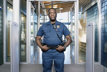 security: Security officer posing
