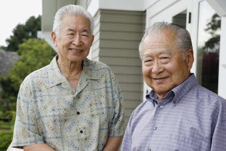 elderly man: Portrait of two elderly men smiling