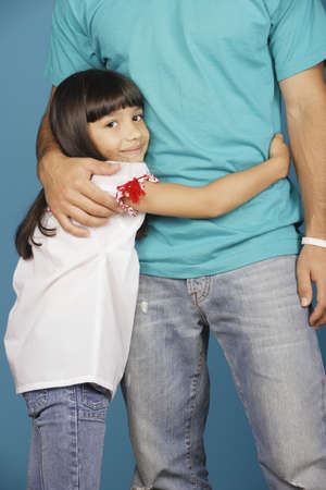 Young girl hugging torso of young man Stock Photo - 16072102