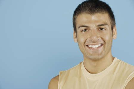 Headshot of smiling young man Stock Photo - 16072110