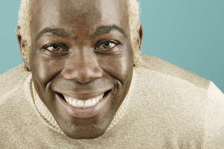 Headshot of young man smiling broadly Stock Photo - 16072117
