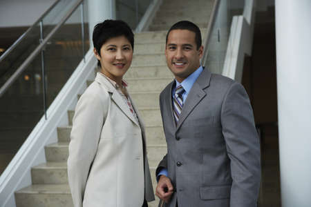 Portrait of two business people Stock Photo - 16072203
