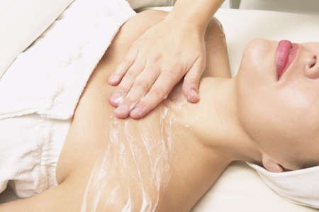 Young woman having skin treatment Stock Photo - 16073301