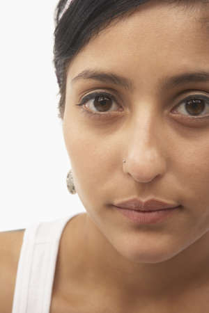 Close up of young woman's face Stock Photo - 16073579