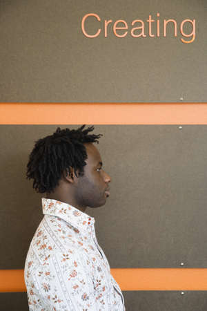 Side view of young man Stock Photo - 16073682