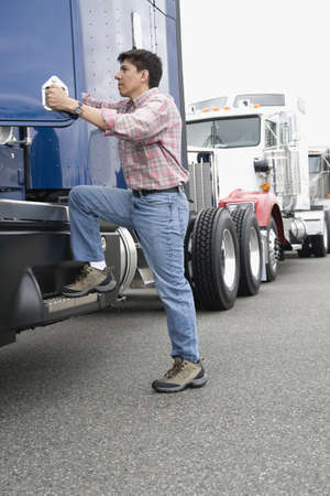 Man boarding truck Stock Photo - 16073687
