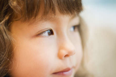 spectating: Close up portrait of young girl