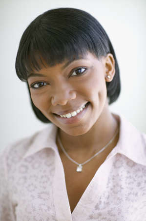 thirtys: Portrait of African American woman smiling