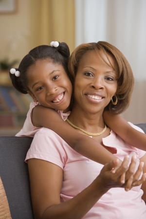 Mother and daughter hugging Stock Photo - 16074103