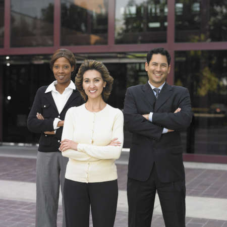 Businesspeople posing for the camera outdoors Stock Photo - 16074308