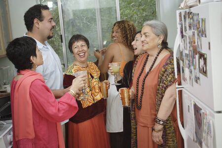 Adults having a party Stock Photo
