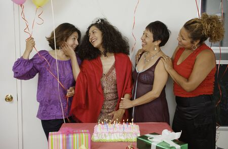 Women socializing at a birthday party Stock Photo - 16074373