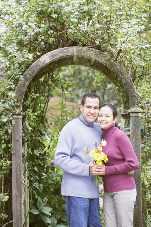 Couple hugging outdoors Stock Photo - 16074673