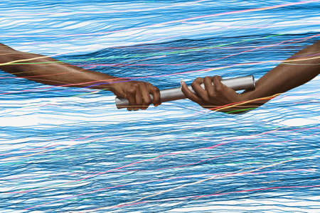 relay baton: Athletes passing the baton LANG_EVOIMAGES