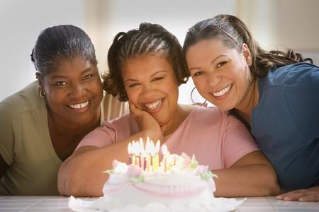 Women celebrating a birthday Stock Photo - 16089452
