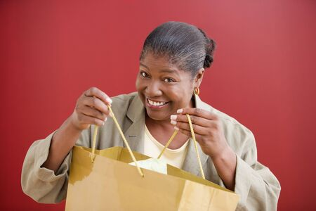 Woman carrying a shopping bag Stock Photo - 16089456