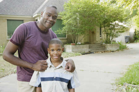 Father and son outdoors Stock Photo - 16089868