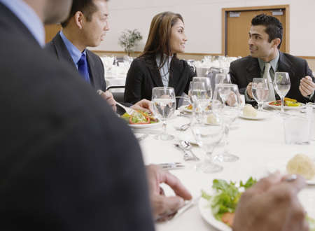 eating area: Businessman eating lunch