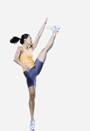 edmonds: Woman jumping, Edmonds, Washington, United States
