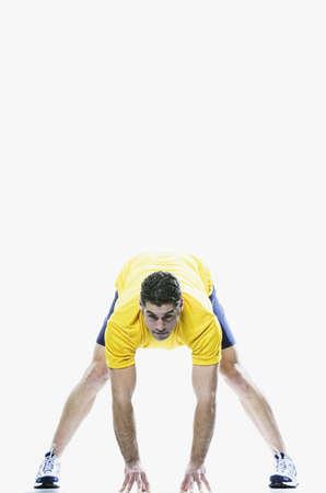 edmonds: Man stretching, Edmonds, Washington, United States LANG_EVOIMAGES