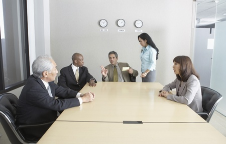 Businesspeople in a conference room