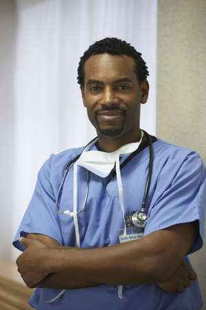 African male surgeon with arms crossed Stock Photo - 16090527